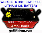 Lithionics Battery lithium-ion solar power deep cycle storage batteries are 98% efficient