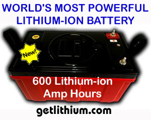 One of our large scale, heavy duty 12 Volt lithium ion batteries