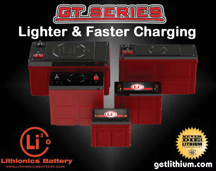 GT Series lithium-ion batteries for RV's, cars, marine, solar and more