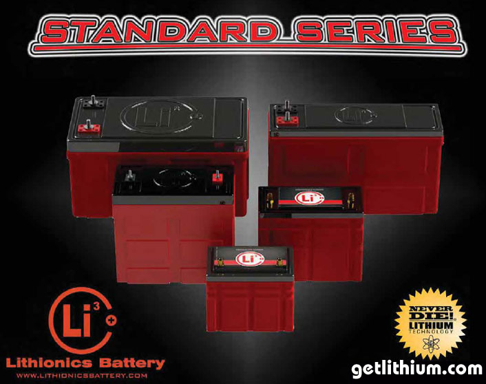 Standard Series lithium-ion batteries for RV's, cars, marine, solar and more