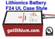 Lithionics Battery GT Series 24 Volt lithium-ion high performance lightweight battery for RV, sailboats, yachts, marine, solar energy storage and more
