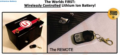 Our batteries can be equipped with a wireless remote transmitter...