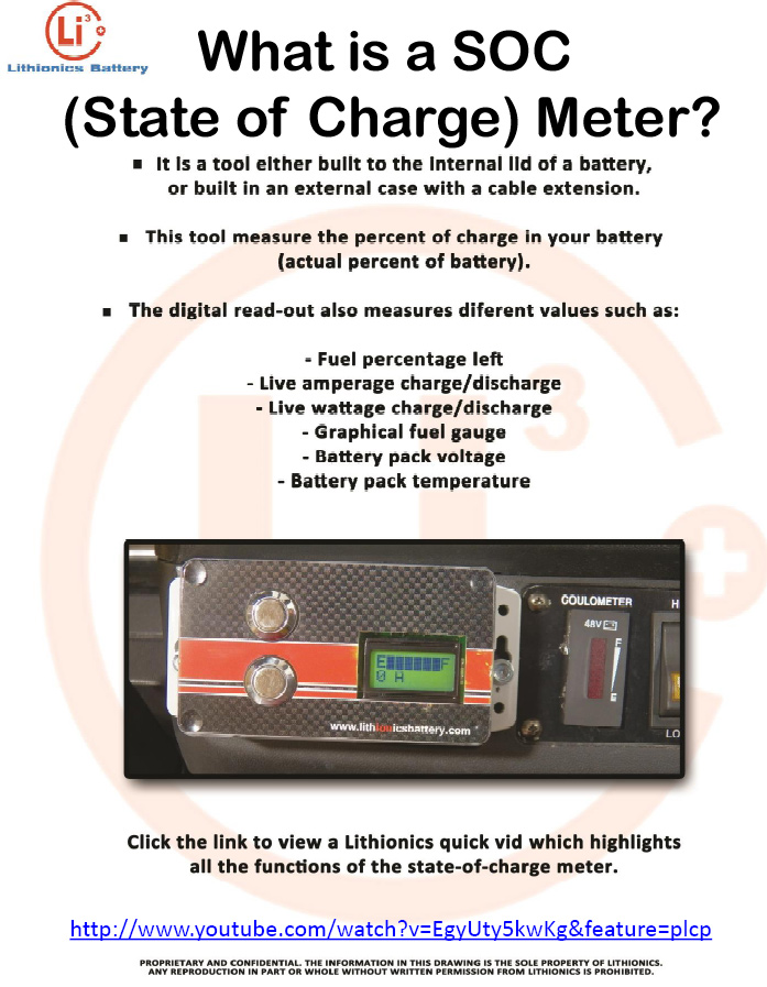 Lithium ion vehicle battery info sheet