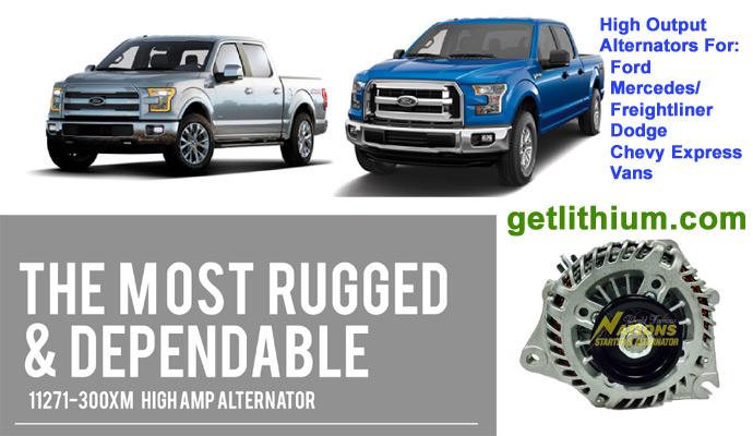 Nations high output alternators for Mercedes, Dodge, GM and more