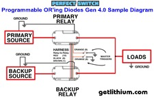 Perfect Switch Power-Gate solid state Programmable OR'ing Diode battery isolators
