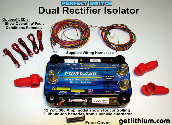 Perfect Switch Power-Gate dual rectifier solid state battery isolators - Generation 4.0