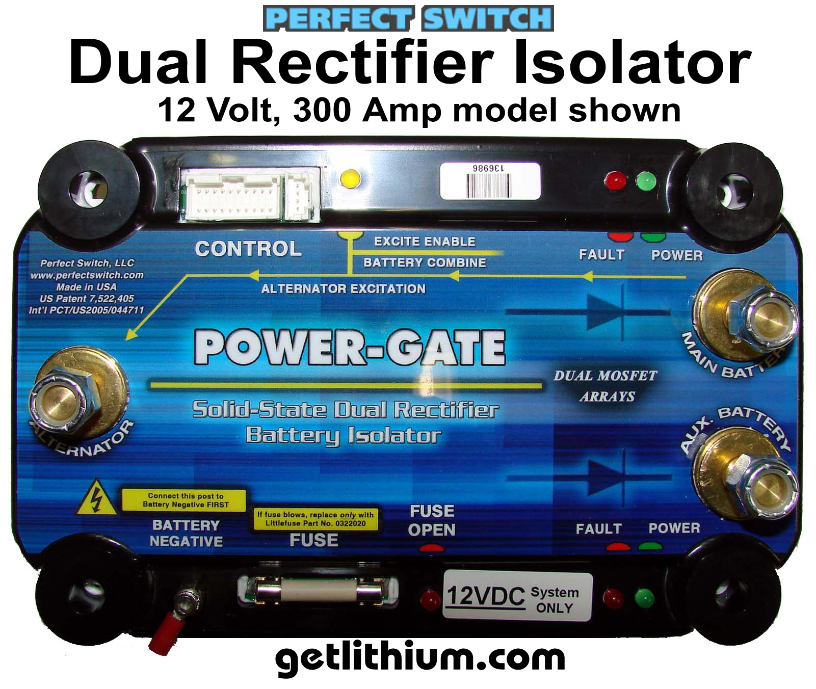 Perfect Switch Power-Gate Solid State Mosfet Battery Isolator Dual ...