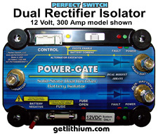 Perfect Switch Power-Gate dual rectifier solid state battery isolators