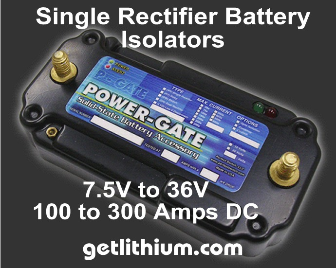 Perfect Switch Power-Gate single rectifier solid state battery isolators