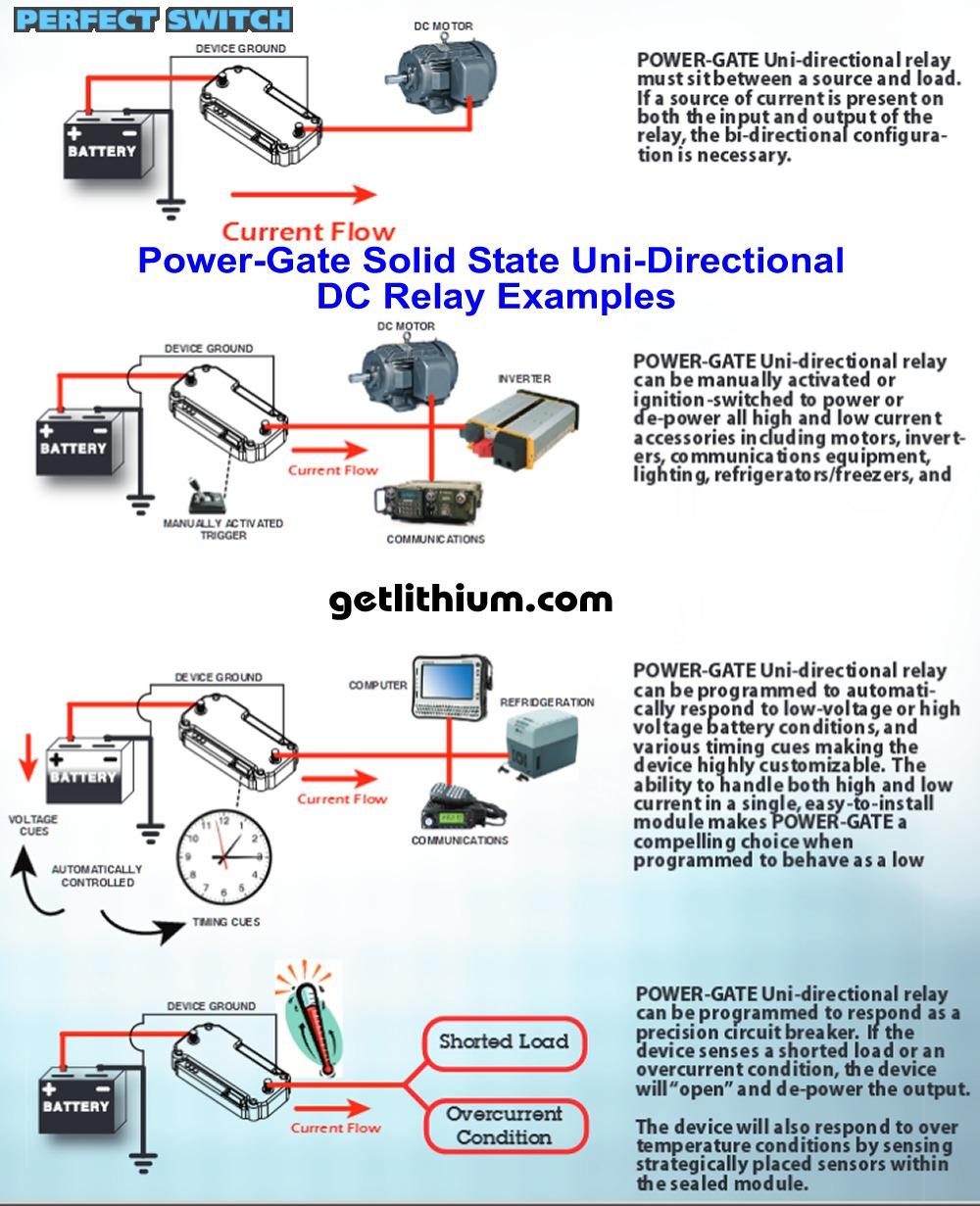 Perfect Switch Power Gate Solid State Mosfet Battery Uni Directional Relays A Relay Is An Electrically Operated Current Flowing Dc Applications