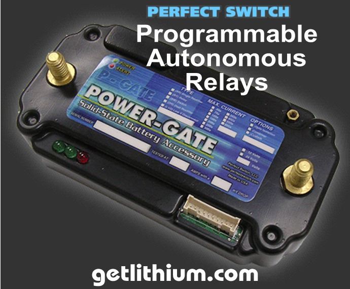 Perfect Switch Power-Gate solid state Programmable Autonomous Relays