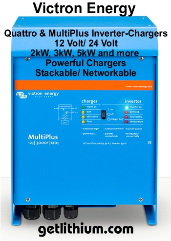 Victron Multiplus and Quattro inverter-chargers for RV and marine electrical installations