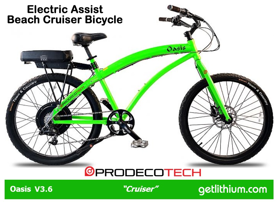 Prodecotech Oasis V3 6 Electric Assist Step Thru Bicycle