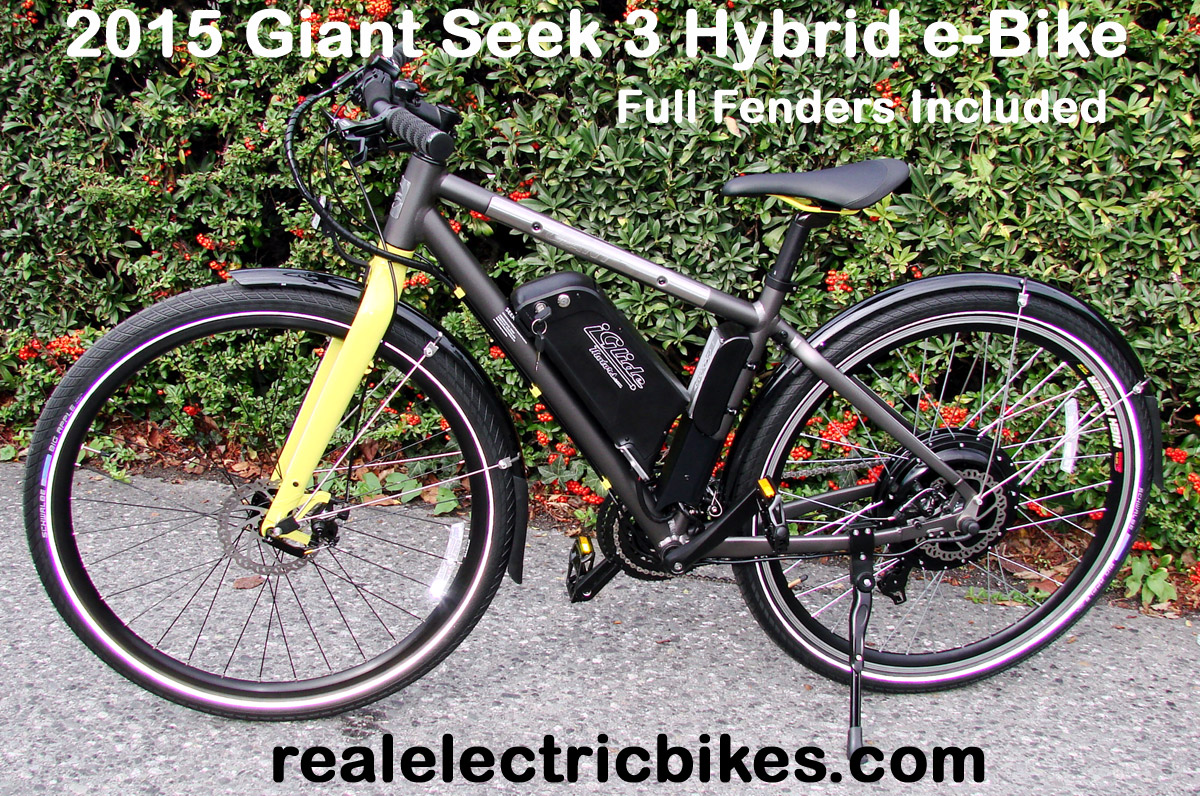 Giant Seek 3 Size Small Electric Assist Commuter Bike