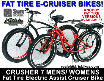 Click here for more information on electric pedal assist bicycles...