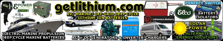 Get Lithium.com offers all the Lithionics Battery deep cycle, house power and engine starting lithium-ion batteries for cars, trucks, sailboats, yachts, car racing, RV buses and campers, Marine, backup or emergency power, solar power generation and much more as well as electric e-bikes by Prodecotech, Pegego and others