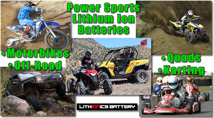 Lithionics Battery lithium-ion powersports batteries last up to 10 years!