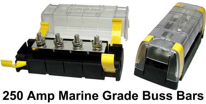 250 Amp marine grade electric buss bar