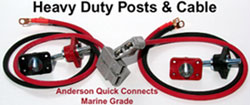 Anderson highe efficiency marine grade quick connetcs