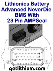 Click here for a larger image of the 23 pin AMPseal for the Lithionics advanced BMS