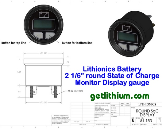 Lithionics Battery State of Charge Monitor Kit gauge