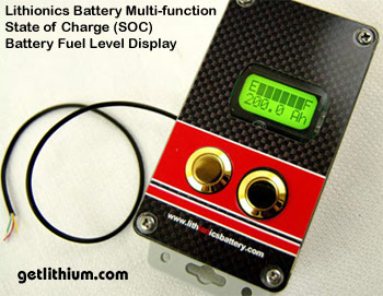 Battery State of Charge display  guage for Lithionics Battery lithium ion batteries