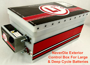 Lithium ion battery with Never-Die box