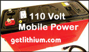 12Volt DC lithium ion batteries with 120 Volt AC output