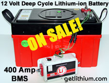 Save almost $4,000! Click here for details on this deep cycle RV, MArine and solar power lithium-ion battery...