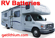 Luxury RV and RV bus conversion lithium-ion deep cycle and diesel engine starting batterie