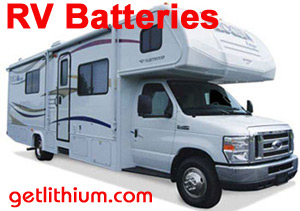 deep cycle house power lithium-ion batteries for Class A, B and C motorhomes