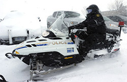 Lithium ion batteries for Police snowmobiles and ATV's