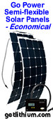 Go Power semi-flexible solar panels