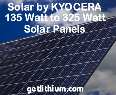 Kyocera high efficiency solar panels for residential, business and industry