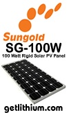 SunGold 100 Watt solar panel - click for a larger image