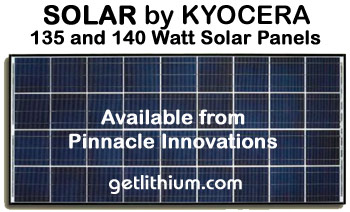 Kyocera 135 watt and 140 watt high efficiency solar panels for off-grid, grid-tie, micro grid and other alternate energy systems and projects