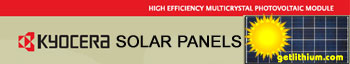 High Efficiency 140 watt to 325 Watt Solar Energy Panels by Kyocera Solar