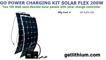 Go Power 100 Watt semi-flexible solar panel expansion kit - perfect for marine and RV solar installations