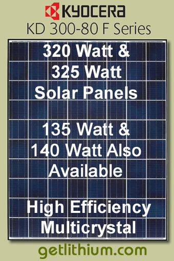 135 Watt to 325 Watt Solar Panels for Off-Grid Solar Power Systems
