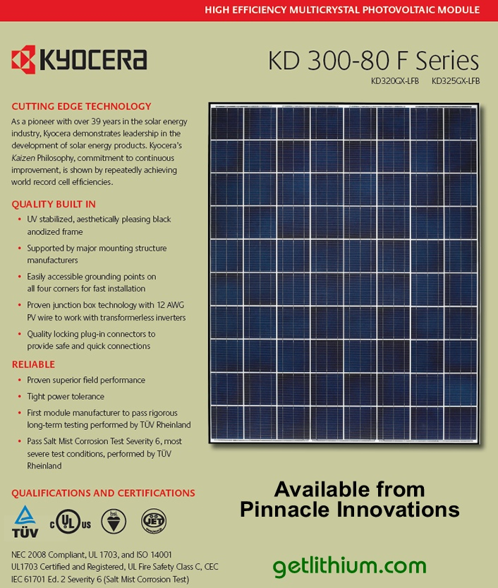 kyocera solar kd325gx lfb high efficiency solar energy panels