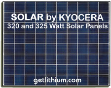 Kyocera 320 watt and 325 watt high efficiency solar panels for off-grid, grid-tie, micro grid and other alternate energy systems and projects