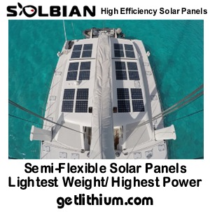 Solbian semi-flexible solar panels