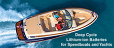 Click here for details on our lithium ion batteries for Ski Boats, Sailboats and Yachts