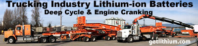Lithium ion batteries for all makes of semi-tractor trailer rigs, dump trucks, earth moving equipment, waste recyclers and more...
