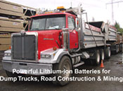 Click here for details on our lithium ion batteries for Commercial Trucks, Truck Fleets and more...