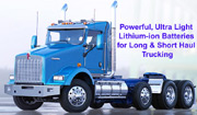 Commercial truck lithium-ion deep cycle and diesel engine starting batteries