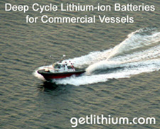 Lithium-ion deep cycle and engine start marine batteries for Coast Gaurd, Search and Rescue and commercial vessels