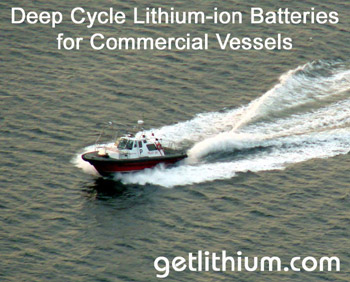 Lithium ion batteries for sailboats and yachts