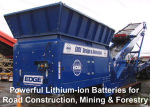 Mobile conveyor systems will always start with our lithium ion batteries