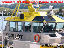 Lithium-ion deep cycle and engine start marine batteries for Coast Gaurd, Search and Rescue and commercial vessels.